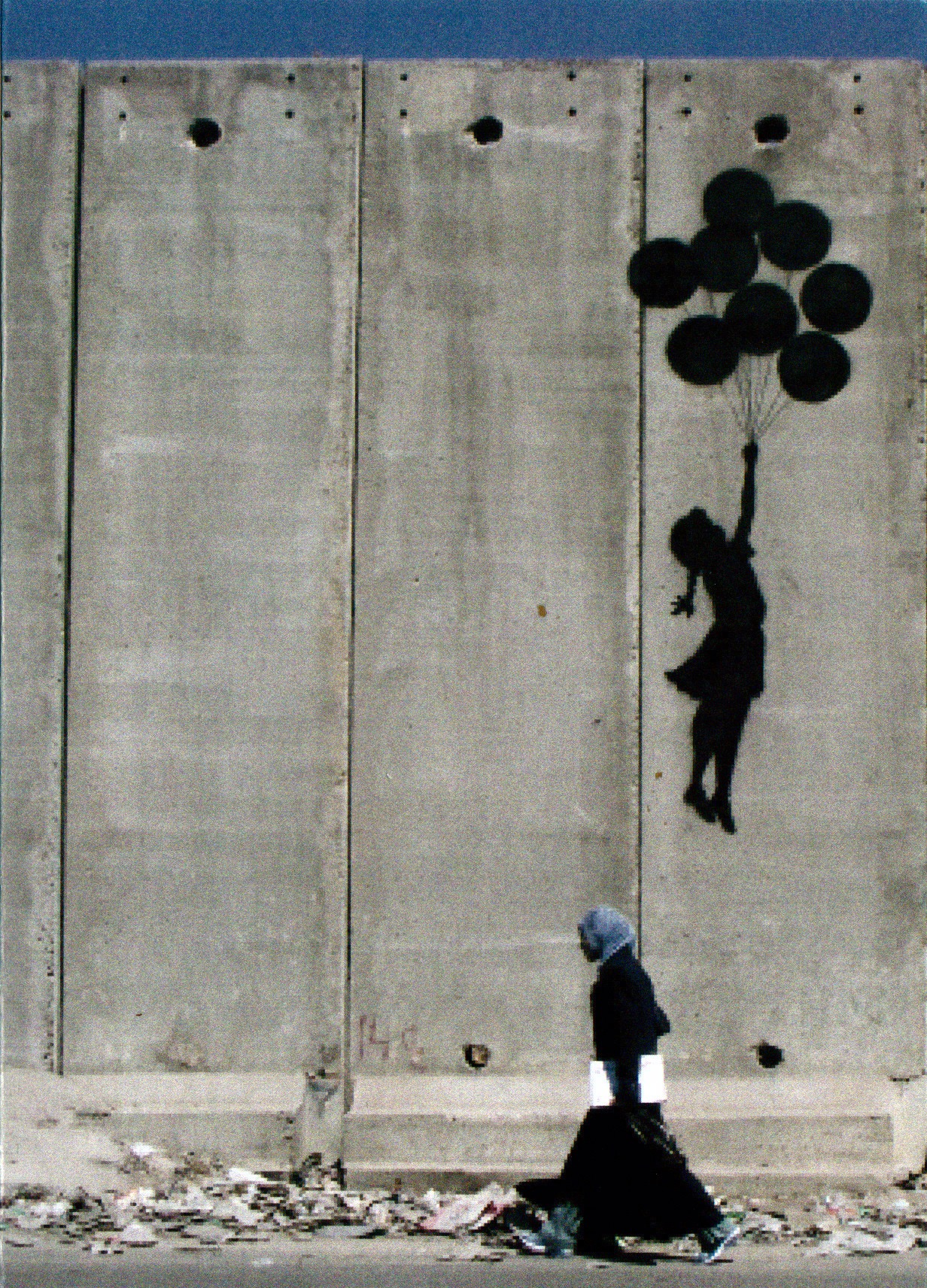 Card, Banksy, girl with baloons