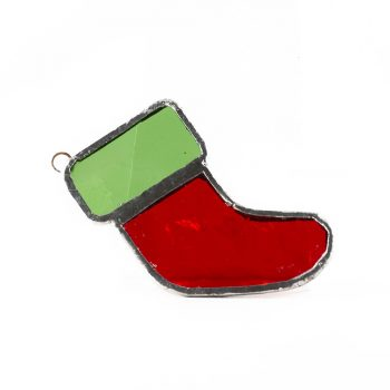 Glass Christmas Stocking