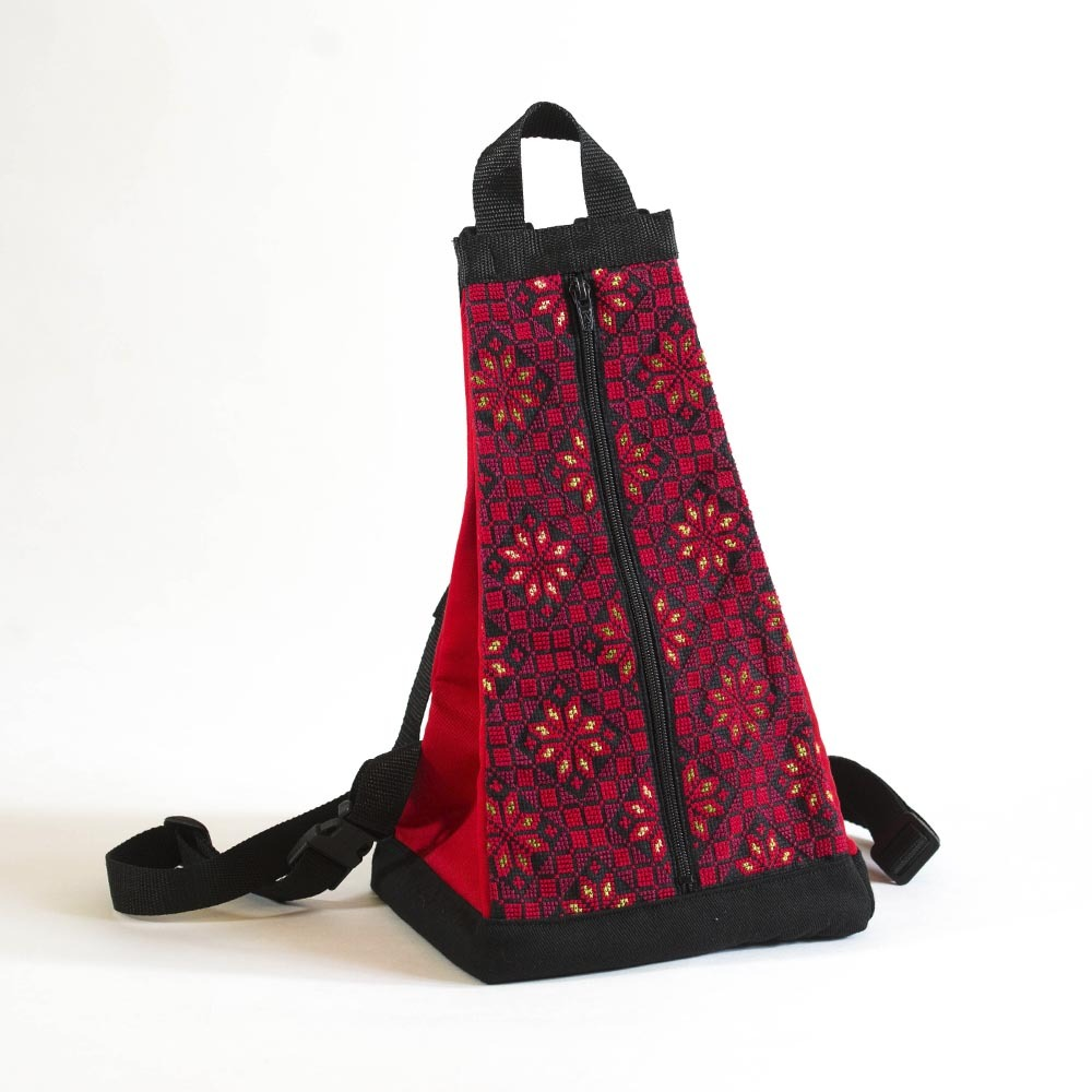 Triangle Hand Embroidered Backpack - Hadeel c6da83d3b617a