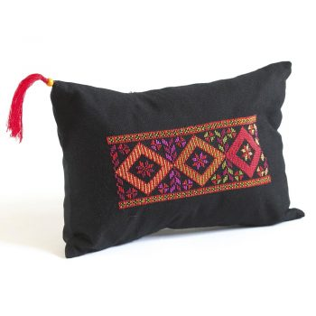Cushion Cover - 3 Squares Embroidered
