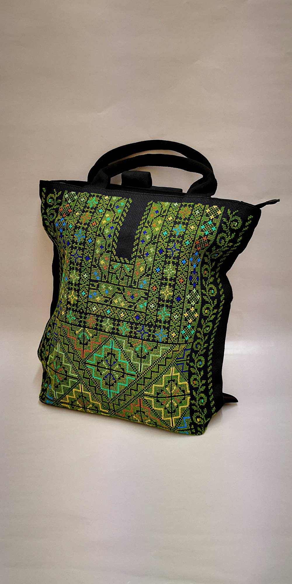 Embroidered Tote Backpack - Hadeel dbe74e7c7a6e8